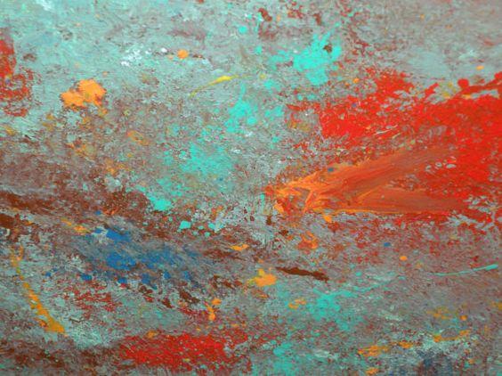 acrylic painting,mixed color. $65.00, via Etsy.