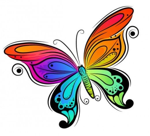 BUTTERFLY CLIP ART | Jars, Clip art and Abstract