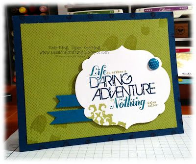 Stampin' Up!  Clean and Simple - CAS  Mindy Backes at Bada-Bing! Paper-Crafting!: Color Combos, Stampin Up, Daring Adventure