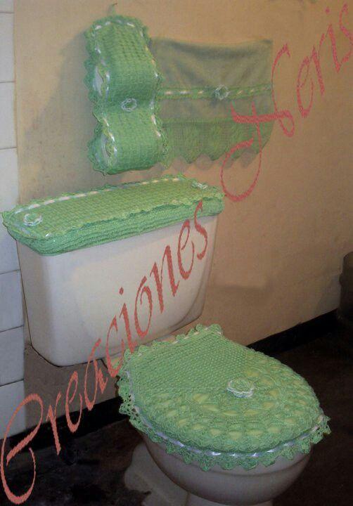Set De Baño En Foami:Juegos de baño en crochet