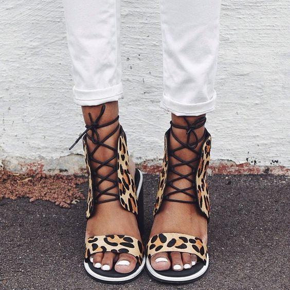 Senso leopard sandals