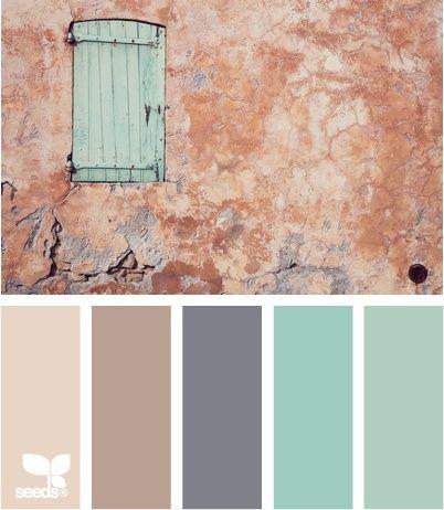 Color Beauty. Cream Taupe Gray Aqua