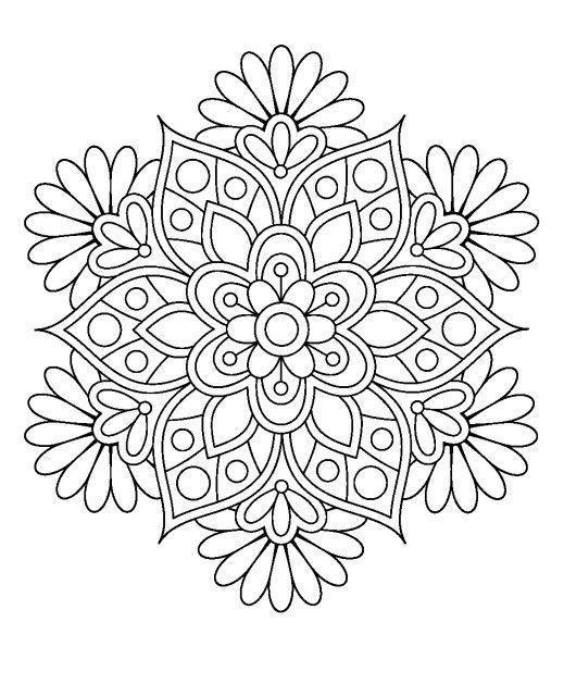 Dibujos De Mandalas Para Colorear Faciles Y Dificiles Imagenes