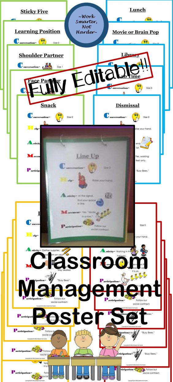 Be consistent with Classroom Management Expectations with these: #colorful…