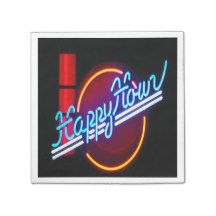 Happy Hour Neon Sign Party Napkins Standard Cocktail Napkin | Matching paper plates  sc 1 st  Pinterest & Happy Hour Neon Sign Party Napkins Standard Cocktail Napkin ...