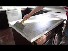 Küchenplatte betonieren - Trying Our Hand At Ardex Concrete Counters | Young House Love