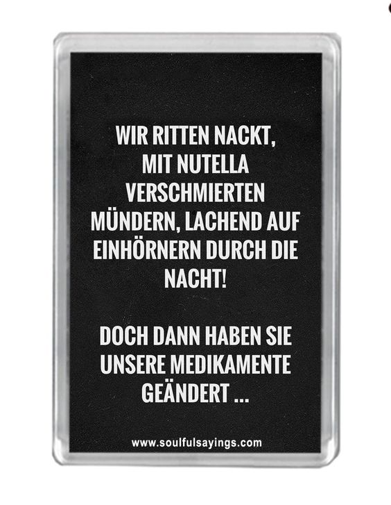 "wir ritten nackt"" zitat kühlschrankmagnet: amazon.de: küche"