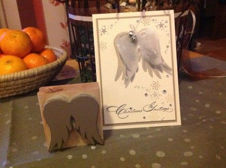 Angel wings carved by Tanja Kolar