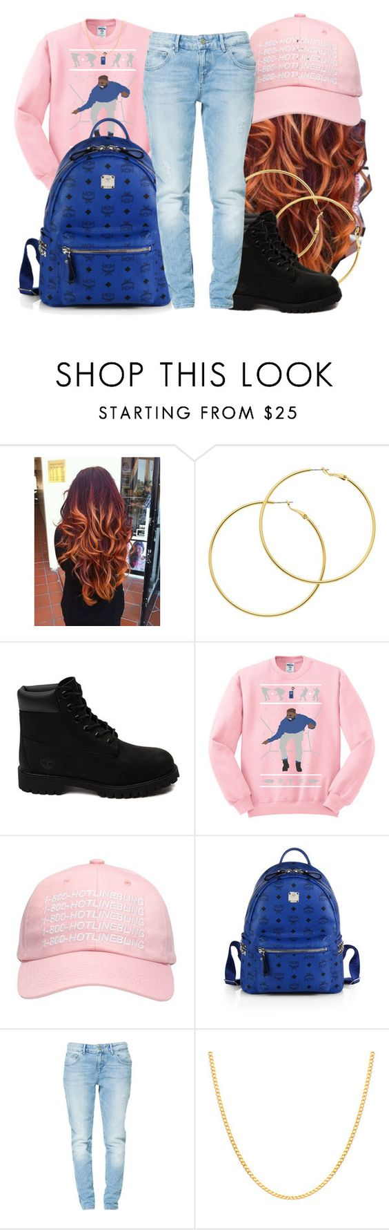 """""""Untitled #297"""" by ashcake-wilson ❤ liked on Polyvore featuring Melissa Odabash, Timberland, October's Very Own, MCM, Zara and Sterling Essentials"""
