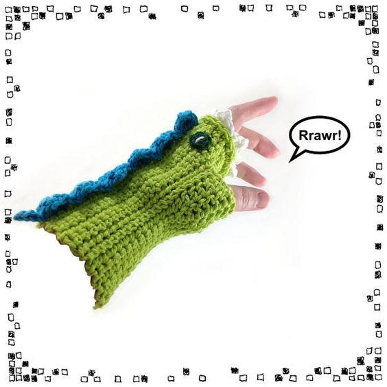 Crocheted Dragon Mitt Pattern PDF by NeedleNoodles on Etsy, $4.00