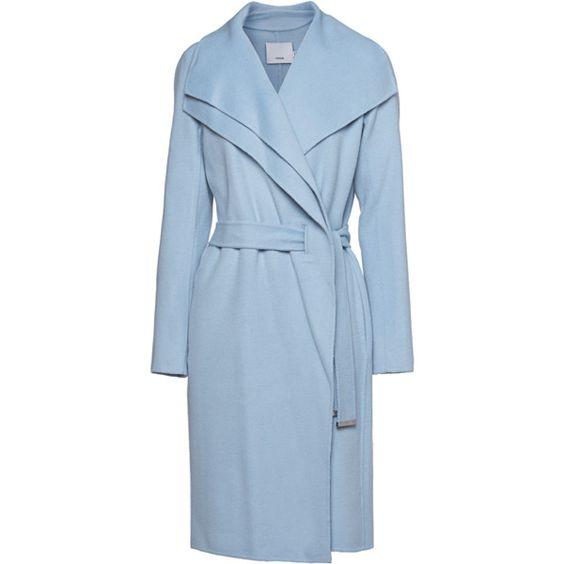 Pale Blue Wool Coat - Coat Nj