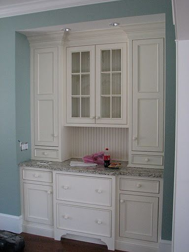 Would love something like this to replace my hoosier in my dining/kitchen area! As seen on Cape & Island Kitchens...