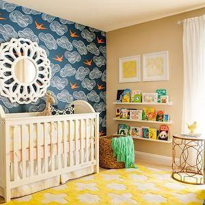 J And Design Group Yellow White Geometric Rug Nursery