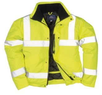 This is a high quality Portwest High Visibility bomber styled jacket, in the colour yellow. This is great for working in all weathers and staying well seen and safe. We offer this hi-vis bomber jacket in a range of sizes, starting from small and going up to five extra large.