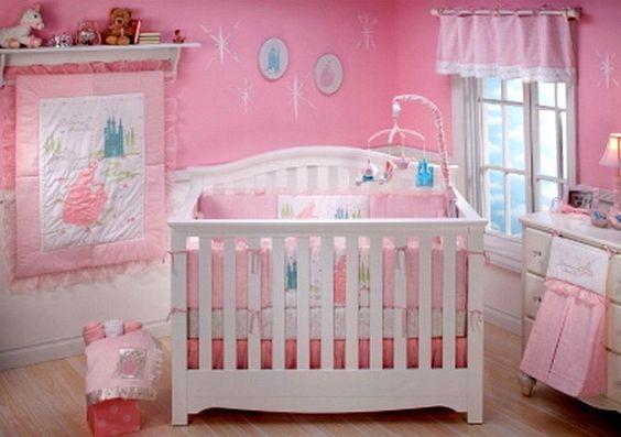 New disney princess 9 piece nursery crib bedding set for Princess crib mobile