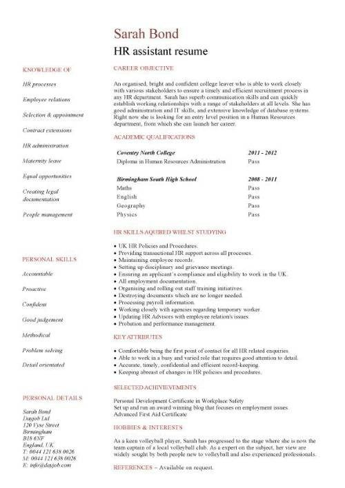 Student Entry Level Hr Assistant Resume Template Student Resume Template Student Jobs Cv Template Student