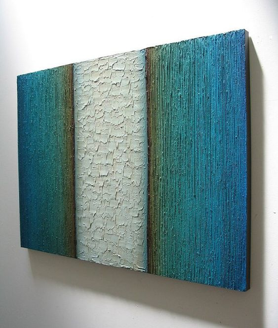 Modern Sculpture Abstract Painting Textured Wall Hanging