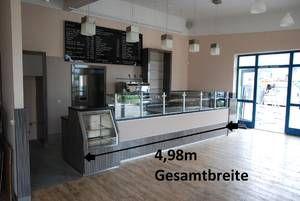 Gastronomieeinrichtung: Ladentheke Verkaufstheke Coffeeshop mit Auslage Cafeeinrichtung