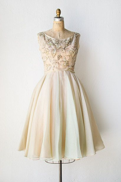 vintage 1950s sequin beaded chiffon party dress #adoredvintage ...
