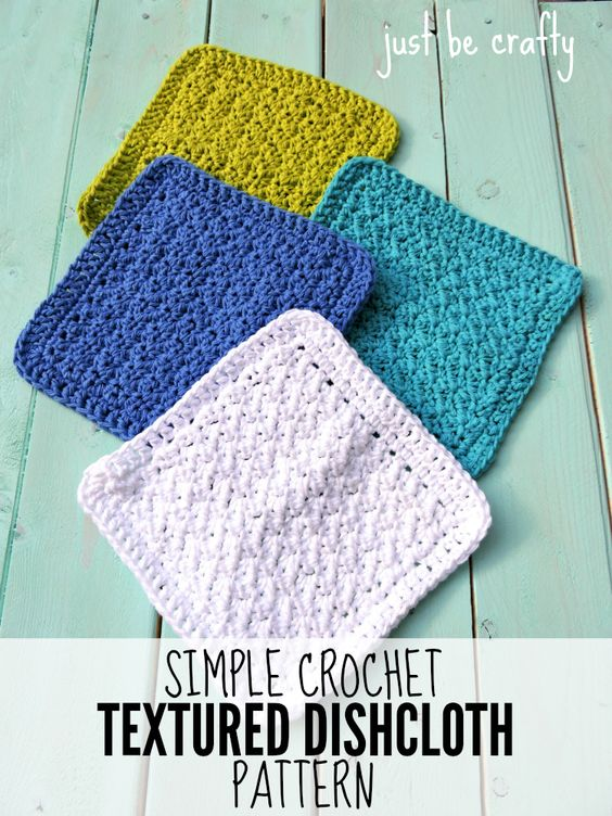 Simple Dishcloth Knitting Pattern : Simple Crochet Textured Dishcloth - FREE Pattern ...