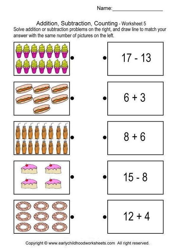 Counting Number worksheets worksheets on addition and – Addition and Subtraction Worksheets Grade 1