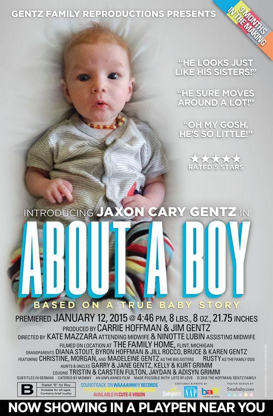 Newborn Birth Announcement Movie Poster Style – Pinterest Birth Announcement