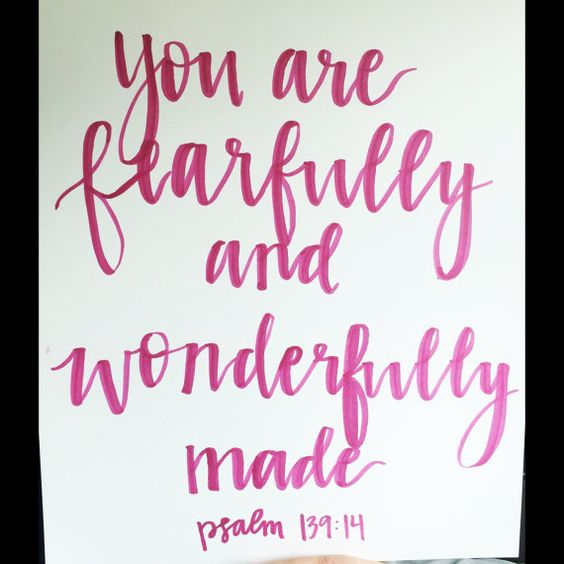 Hand lettered wall art that can be framed. customizable with any quote or bible verse or word.