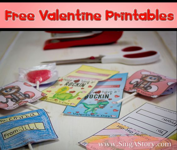Free Valentines for the kids to give out- it even has an option to color your own.  Fun!