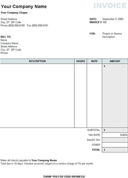 basic invoice template uk word   invoice   pinterest   templates, Invoice templates