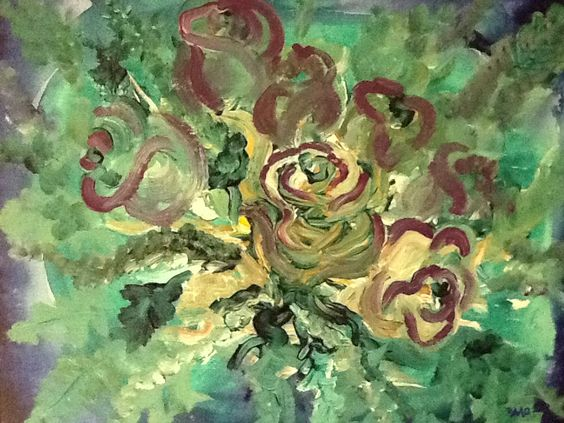 "Touch Painting ""Seven Roses"" by David M Gillespie. Website: davidmgillespie.com"