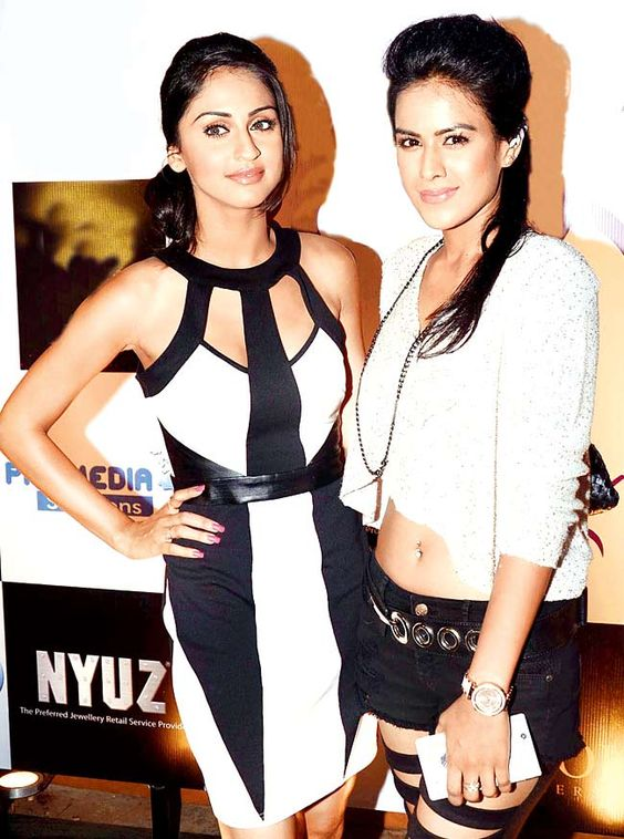 Krystle D'Souza with Nia Sharma celebrate the success of the first season of Box Cricket League. #Style #Bollywood #Fashion #Beauty #BCL:
