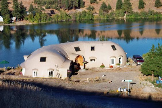 Curlew Keep — The 2800-square-foot Monolithic Dome home that the Bremners planned and built.: