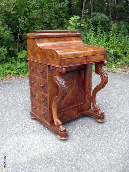 Rare Cedar & Mahogany c1840's Ships writing desk/bureau. Desk folds out and  has hidden compartments. $465.00 Ph: 0403 451 333. - Rare Cedar & Mahogany C1840's Ships Writing Desk/bureau. Desk