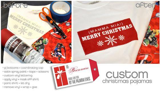 Custom Christmas Pajamas  #ivorybloom #pickyourplum #vinyl