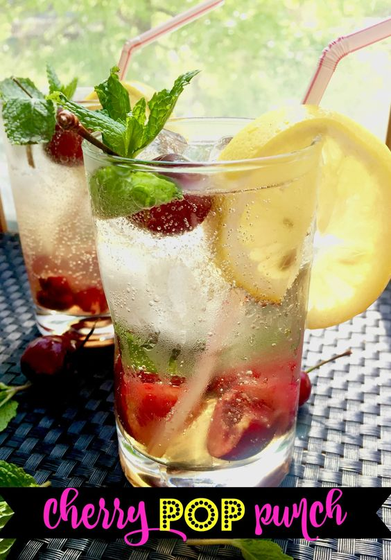 cherry pop punch with vodka