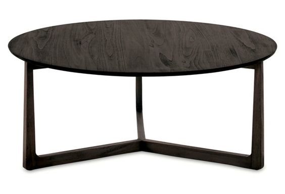 "Messina 40"" Round Coffee Table, Brown"
