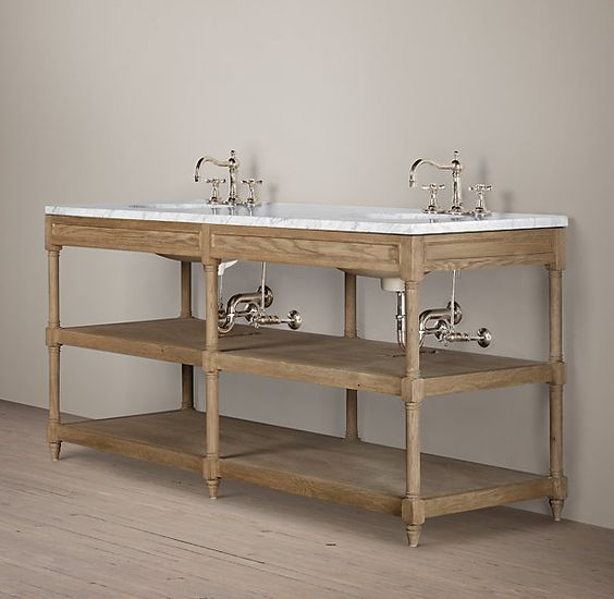 Restoration Hardware Bathroom Vanity Knockoff: Home, Hardware And Vanity Bathroom On Pinterest