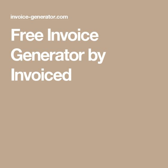 Free Invoice Generator by Invoiced Design Like itu0027s Your Job - invoice generator