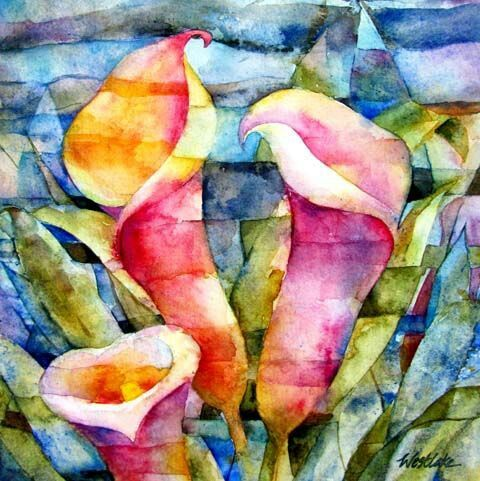 Pin by maral luna on my first board pinterest lilies for My first watercolor painting