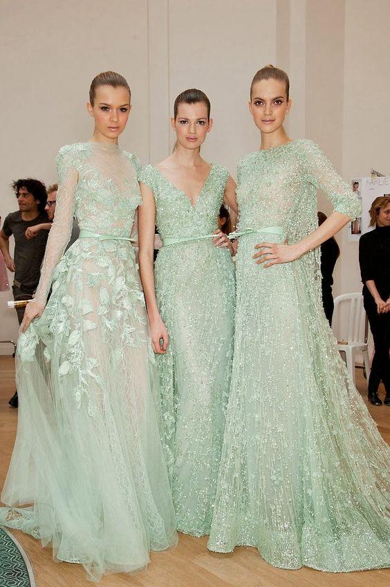 gorgeous mint gowns