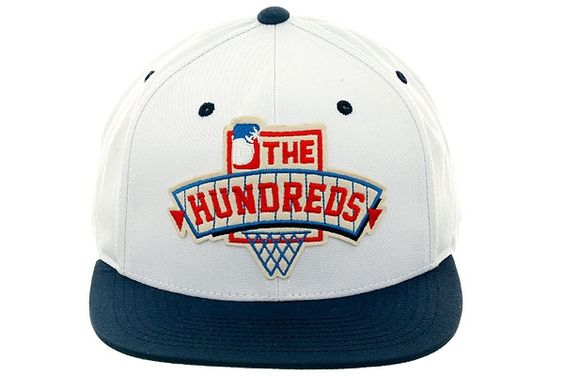 White body, Navy brim. The Hundreds Draft snap. Tryna ball with this hat on