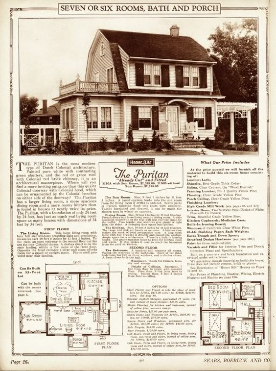 Kit homes house plans and vintage house plans on pinterest for Dutch colonial house plans with photos