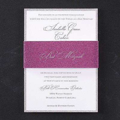 O m glitter your batmitzvah wording is printed on an invitation your batmitzvah wording is printed on an invitation edge stopboris Choice Image