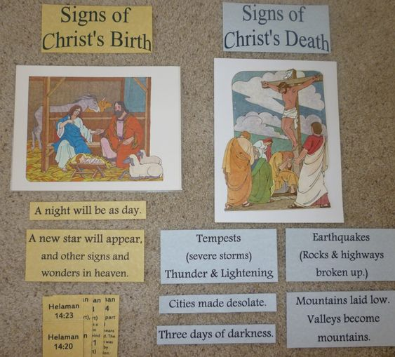 Book of Mormon lessons 31-33 Samuel the Lamanite Signs in America of Jesus Christ's Birth The Savior Appears to the Nephites