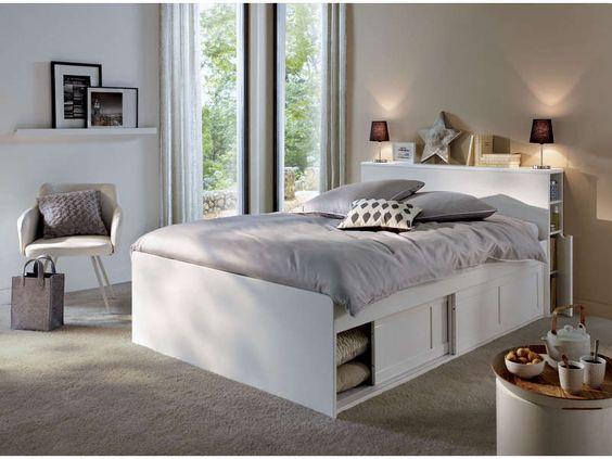 tte de lit 148 cm belem coloris blanc vente de tte de lit conforama - Chambre A Coucher Conforama