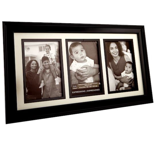 Collage Frame 3 Opening Expressions By Studio Decor In Black 4 X 6 Michaels Collage Frames Family Picture Frames Picture Frame Table