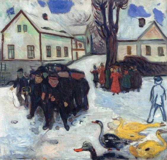 Edward Munch - Ragazzi e anatre, 1908