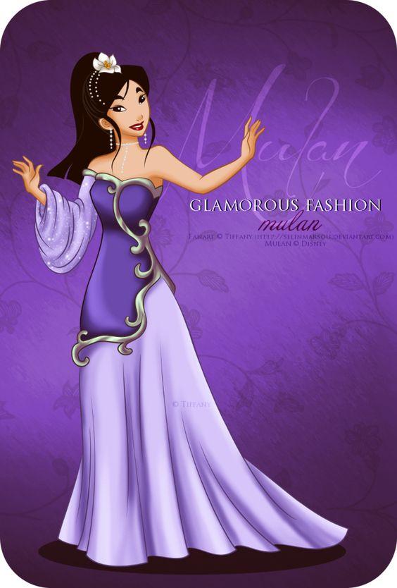 Glamorous Fashion - Mulan by selinmarsou on DeviantArt: