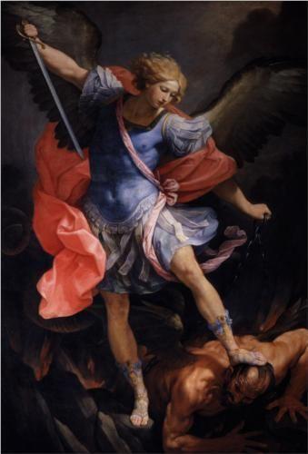 The Archangel Michael defeating Satan - Guido Reni: