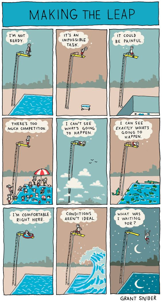 Grant Snider on Making the Leap - Improvised Life